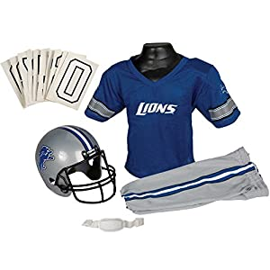 Franklin Sports NFL Detroit Lions Deluxe Youth Uniform Set, Medium