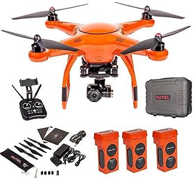 Autel Robotics X-Star Premium Drone with 4K Camera, 1.2-Mile HD Live View &Manufacturer Accessories (Orange) +extra 2x Autel Robotics Battery (Li-Po with 4900mAh, 14.8V) by Autel Robotics