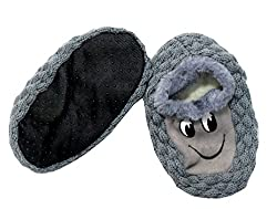 Neska Moda Premium Super Soft Cotton Unisex Kids Winter Booties-18 CM Length For Age Group 5-8 Years-Grey,Black