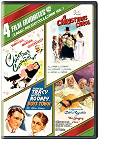 4 Film Favorites Classic Holiday Collection Vol 1 Christmas In Connecticut Boys Town A Christmas Carol The Singing Nun from Warner Home Video