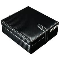 Steinhausen BX6CFCF Carbon Fiber PU Leather Watch Winder