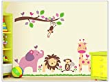 Asmi collection PVC Wall Stickers Wall Decals Tree Branches Animals