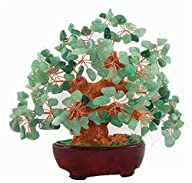 7 Inch Feng Shui Aventurine Quartz Gem Stone Money Tree Natural Green Crystal Money Tree Office…