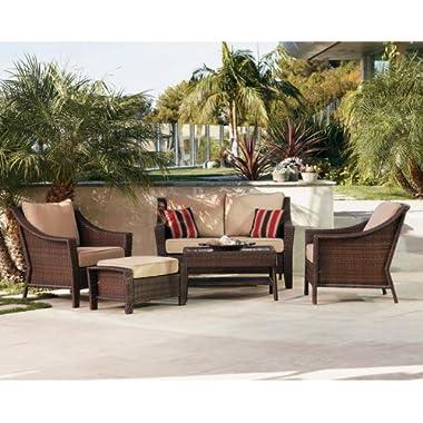 Outdoor Patio Home Rolston Wicker 4-pc. Conversation Set
