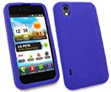 EMARTBUY LG OPTIMUS BLACK P970 SILICON CASE/COVER/SKIN BLUE