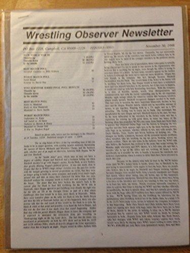 WRESTLING OBSERVER NEWSLETTER NOV 30, 1998 WCW WORLD WAR III EX (Wcw World War 3 compare prices)