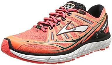 Brooks Trascendent - Zapatillas de running para hombre, color fierycoral/silver/green, talla 46
