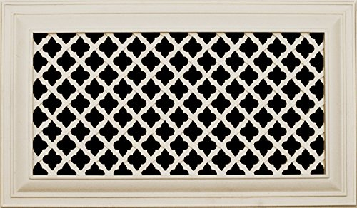 Decorative Vent Cover for a 12x8 Opening. Resin Paint Grade Grille Can Be Used As Return, Supply, Foundation Vent, Register. Ribbon Design. 14x10 Overall Size (Floor Register 8 X 12 compare prices)