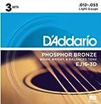 D'Addario EJ16-3D Phosphor Bronze Lig...