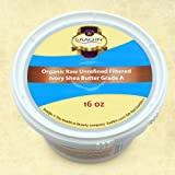 Authentic Organic IVORY Shea Butter FILTERED & CREAMY 16 Oz - The Highest Quality Butter (Pack of 4)