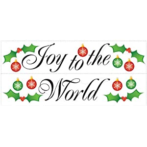 #!Cheap RoomMates RMK1410SCS Joy to the World Peel & Stick Wall Decals