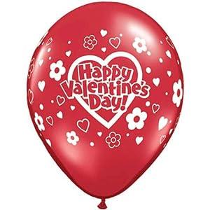 "11"" Valentine's Daisies & Dots Around Balloons (10 ct)"