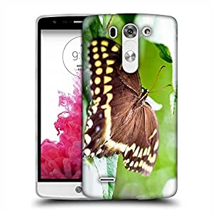 Snoogg Brown Butterfly Designer Protective Phone Back Case Cover For LG G3 BEAT STYLUS