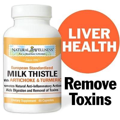 Natural Wellness Milk Thistle with Artichoke & Turmeric - 60 Capsules