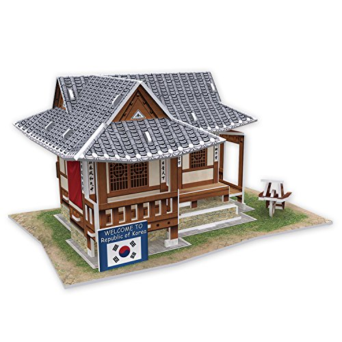 W3157h Cubicfun Cubic Fun 3d Puzzle Model Traditional Residence in South Korea - 1