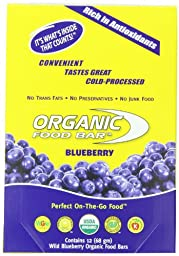 Organic Food Bar, Blueberry (Pack of 12) (68 gm)