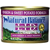 Natural Balance Canned Dog Food, Grain Free Limited Ingredient Diet Venison and Sweet Potato Recipe, 6-Ounce, Pack of 12