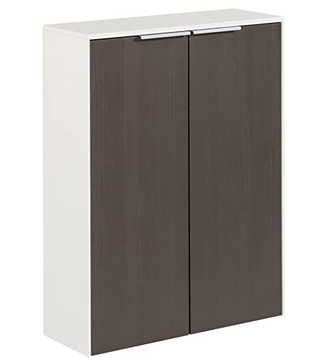 Fackelmann Double Bathroom Cabinet Scera Front Colour Grey 118 x 31.5 cm W