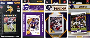 NFL Minnesota Vikings 4 Different Licensed Trading Card Team Sets by C&I Collectables