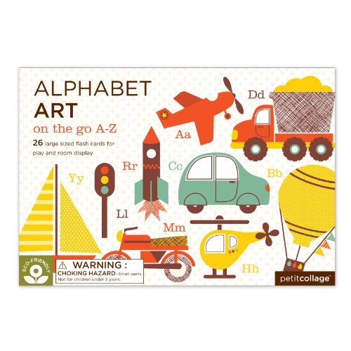Petit Collage Alphabet Art Cards, On The Go A-Z front-515470