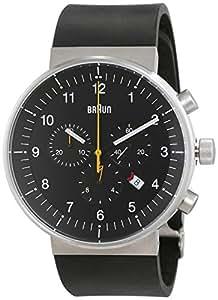 Braun Unisex-Armbanduhr Analog Quarz Kautschuk BN0095BKSLBKG