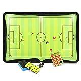 Sumnacon サッカー用のコーチボード タクティクスボード 戦略計画·指導など サッカー 磁性作戦盤 折りたたみ