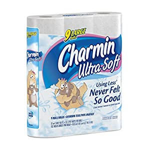 Charmin Ultra Soft, Toilet Paper Large Rolls, 9-Count (Pack of 5)