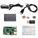 ラズベリーパイ電子工作入門キット Raspberry Pi 2 Model B 本体 / 3.5インチタッチパネル ディスプレイ / スイッチ付き電源専用USBケーブル / ヒートシンク / microSDカード & USBカードリーダー /...