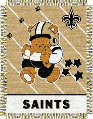New Orleans Saints Baby Blanket Bedding Throw 36 x 46 at Amazon.com