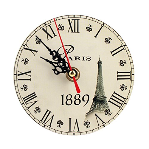 LEERYA Vintage Style Silent Antique Wood Wall Clock (F) (Electric Clock Parts compare prices)