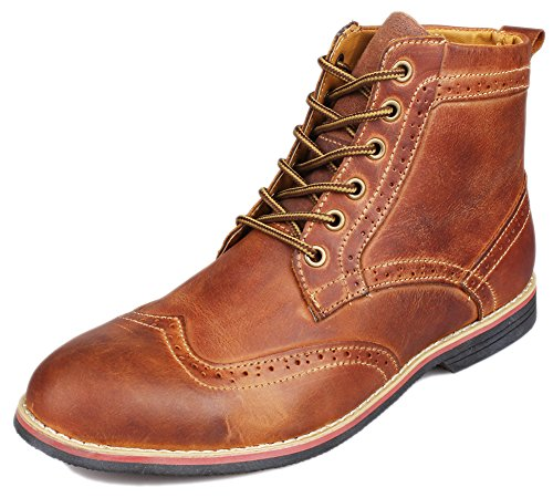 kunsto s leather lace up dress boot shoes boots