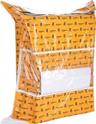 Amazon.in Branded Premium Polybag with Document Pouch (Size -19 Inches X 17 Inches, Count - 100 Polybags)