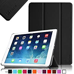 Fintie SmartShell Case for Apple iPad Air (iPad 5 5th Generation) Ultra Slim Lightweight Leather Stand (with Smart Cover Auto Wake / Sleep) - Black