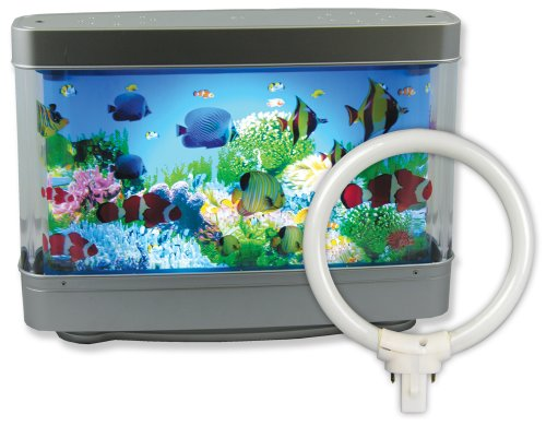 Aquarium Night Light Lamp With Tropical Fish And Extra Replacement Bulb : Ocean In Motion Revolving Aquatic Scene - 13 Inch Wide - Best Seller On Amazon front-182794