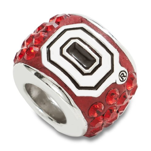 Ohio State Premier Bead Charm Sterling Silver