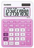 カシオ カラフル電卓 ミニジャストタイプ 10桁 MW-C11A-PK-N ベイビーピンク