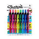Sharpie Accent Retractable Highlighters, Assorted, Fine Point, 8 Pack