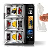 STUFF4 Gel TPU Phone Case Cover for HTC One1 M7 Bells Design Slot Machine Collection