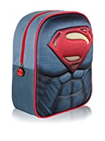 SUPERMAN Mochila 3D Superman Logo (Azul)