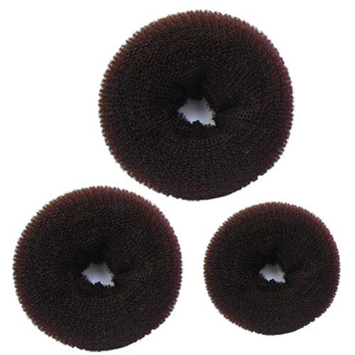 Bundle 3 Pieces Hair Chignon Donut Bun Maker 1 Large1