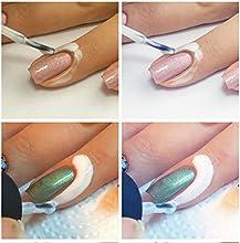 LIFECART blanc Peel Off ongles liquide ruban Peel Off Base Coat Nail Art liquide palissade - 15ml