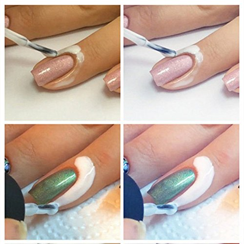 LIFECART-blanc-Peel-Off-ongles-liquide-ruban-Peel-Off-Base-Coat-Nail-Art-liquide-palissade-15ml
