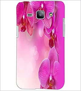 PrintDhaba Flowers D-2392 Back Case Cover for SAMSUNG GALAXY J1 (Multi-Coloured)