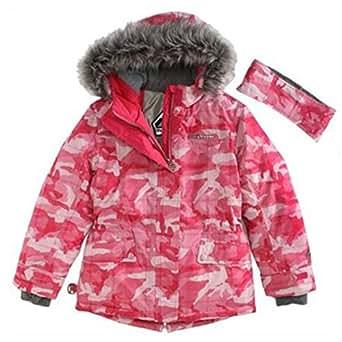 Amazon Com Zero Xposur Girls Pink Camouflage Coat Puffer