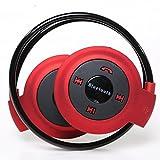 MeGooDo Bluetooth Wireless Headset Sports Earphone Stereo Music F Mp3 Iphone Foldable (Red)