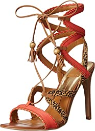 Dolce Vita Women\'s Haven Gladiator Sandal, Red/Orange/Multi, 8.5 M US