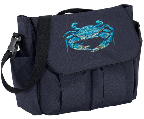 Blue Crab Diaper Bag Blue Crab Baby Shower Daddy Or Mom Gift front-966198