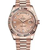 ROLEX DAY-DATE II ROSE GOLD PRESIDENT WATCH PINK DIAMOND DIAL