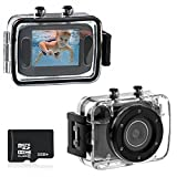 Foxnovo 123S 2.0-inch Touch Screen 10M Waterproof Sports Digital Camera DV Camcorder with 32GB Micro SD/TF Card (Black)