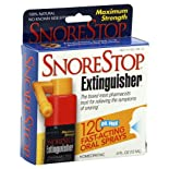 SnoreStop Extinguisher Anti-Snoring Oral Spray, Maximum Strength, 120 ct.